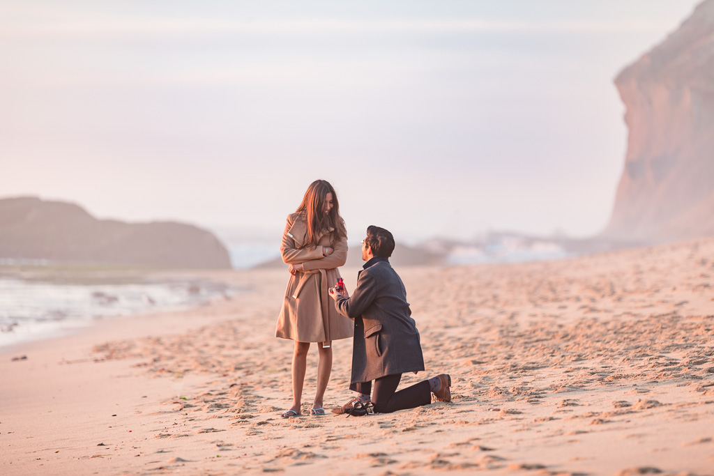 secluded Half Moon Bay beach proposal