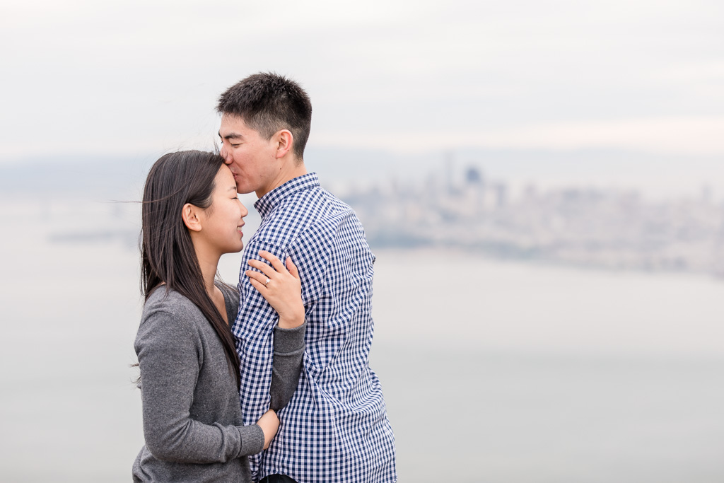 kissing on top of the world