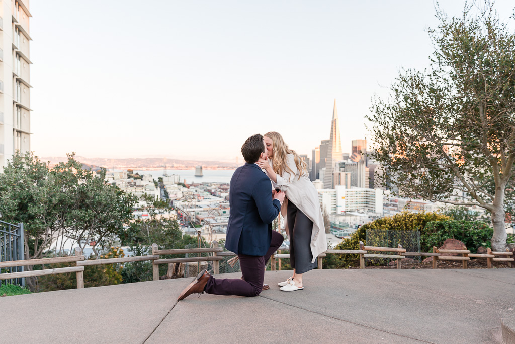 best spot to propose in San Francisco with a city skyline view