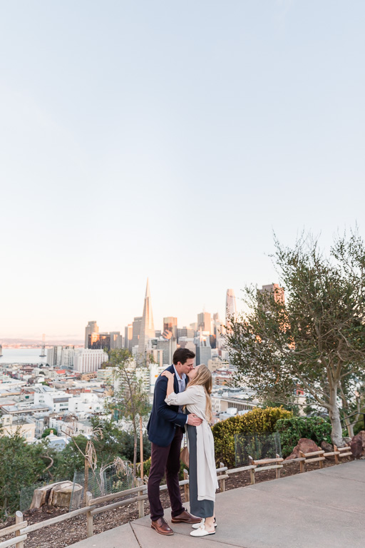 kissing on top of San Francisco