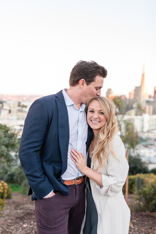 San Francisco surprise marriage proposal couple portrait