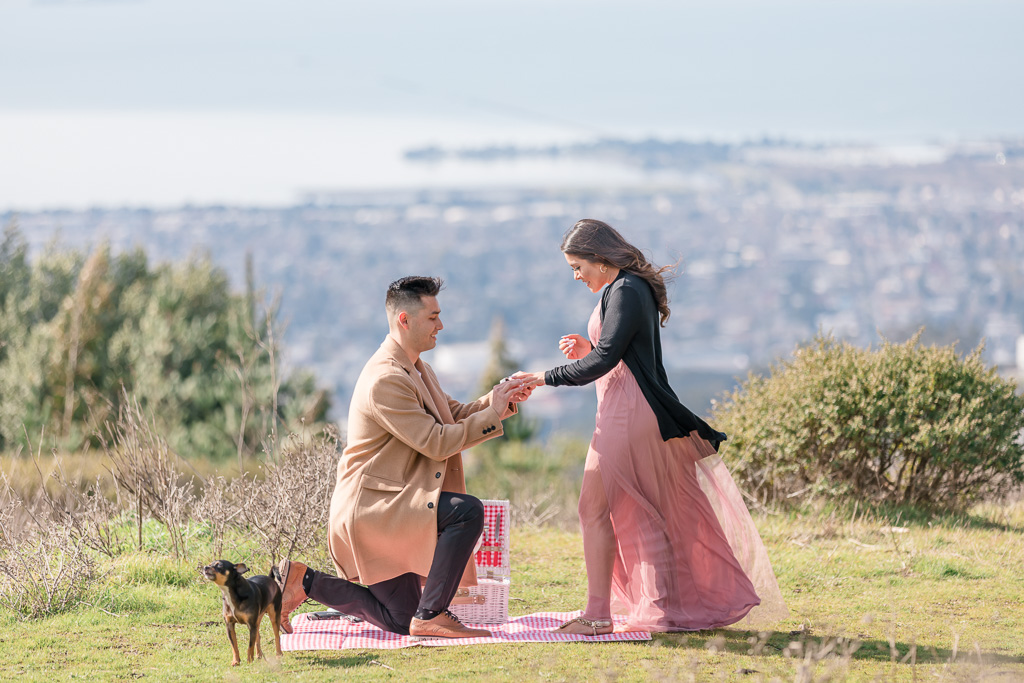 Berkeley Hills surprise marriage proposal