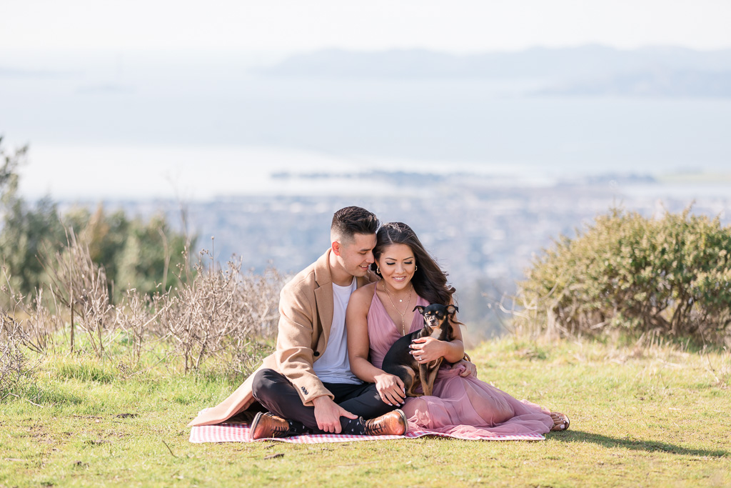 Berkeley Fire Trails engagement portrait