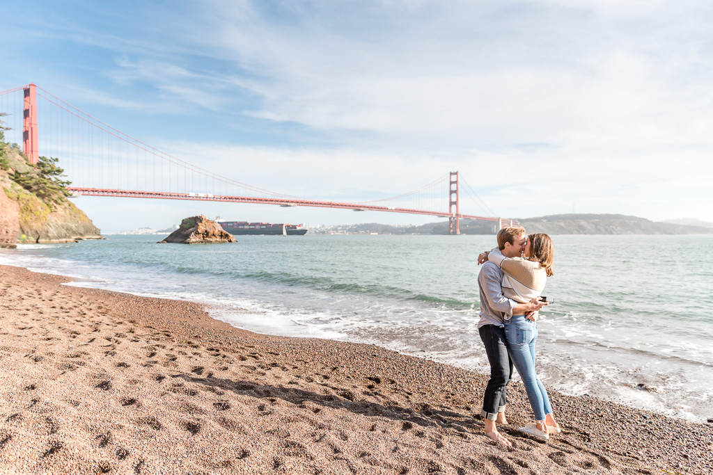 unique golden gate bridge engagement proposal location