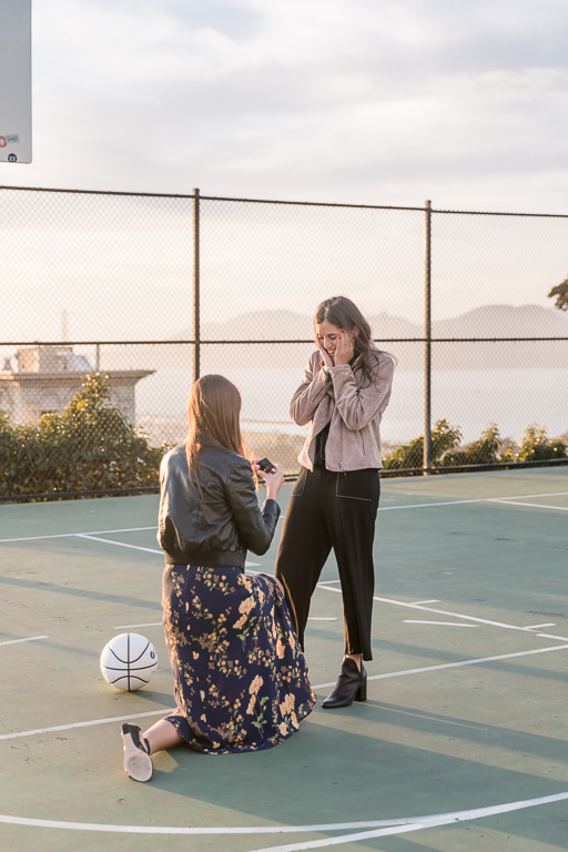 Alice Marble Tennis Court surprise proposal