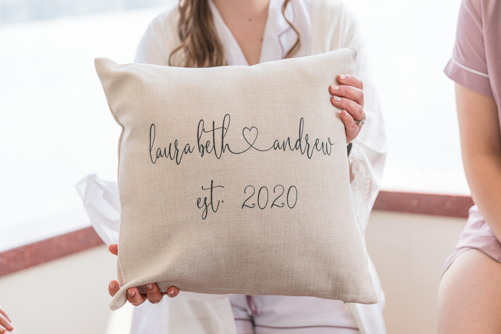 customized wedding pillow