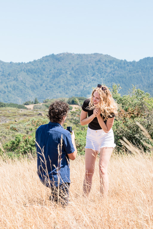 he popped the question on Mt. Tam