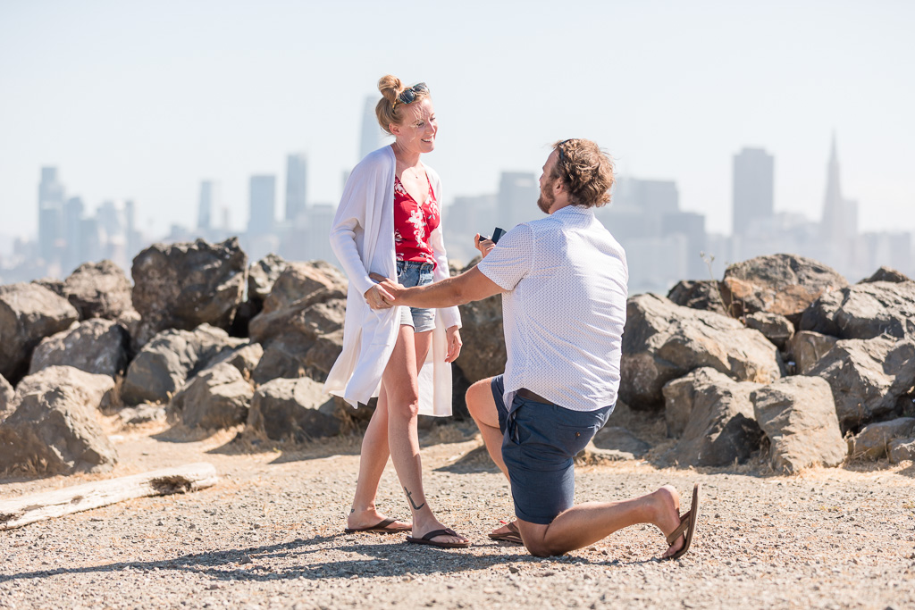 surprise engagement on Treasure Island