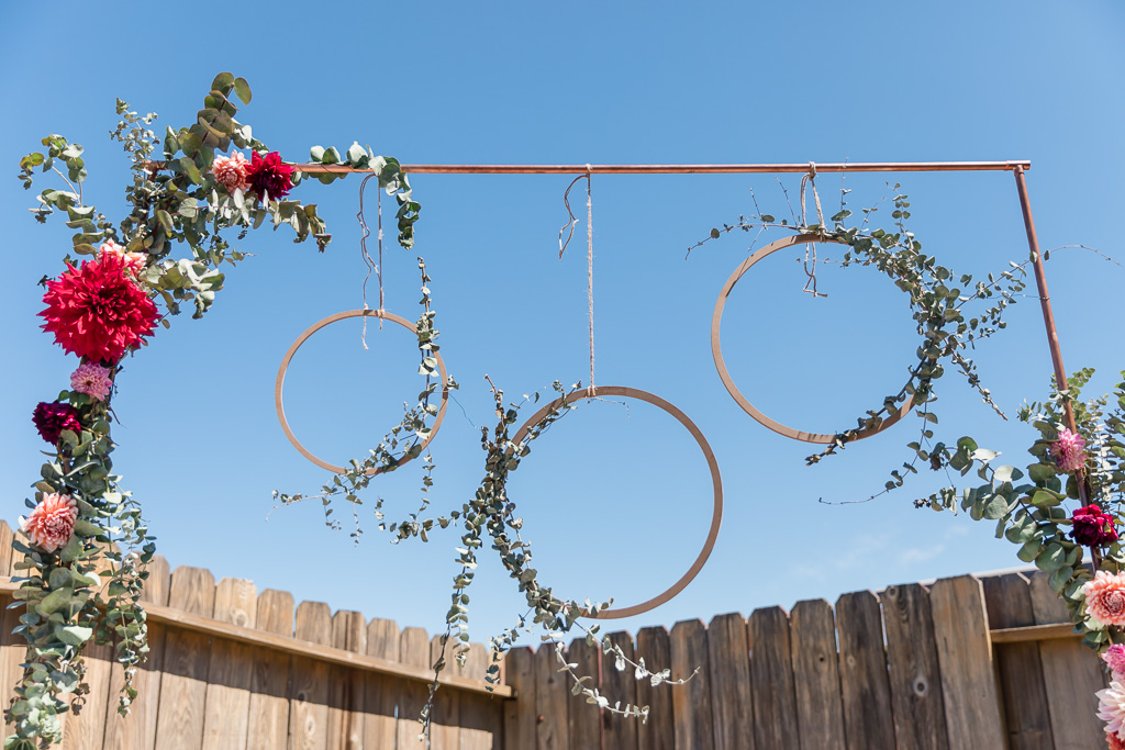 backyard wedding arbor decorations