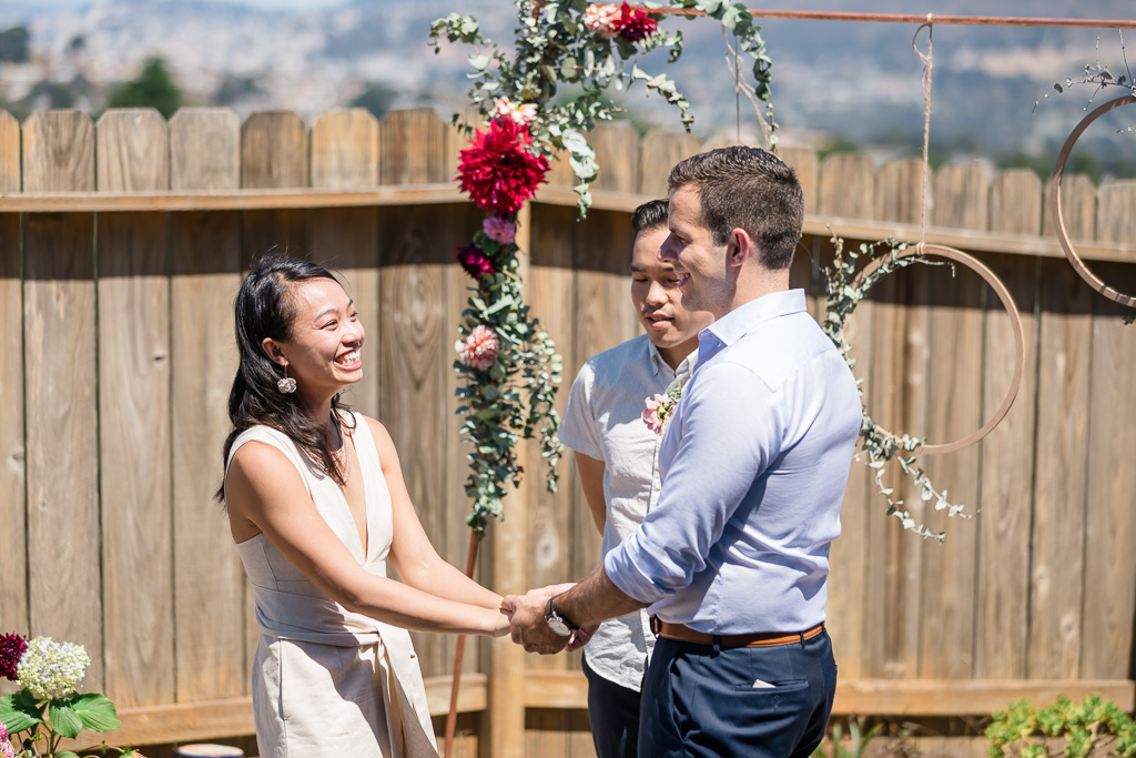 San Bruno backyard wedding ceremony
