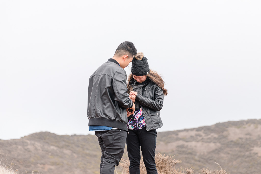 engagement in the Marin Headlands