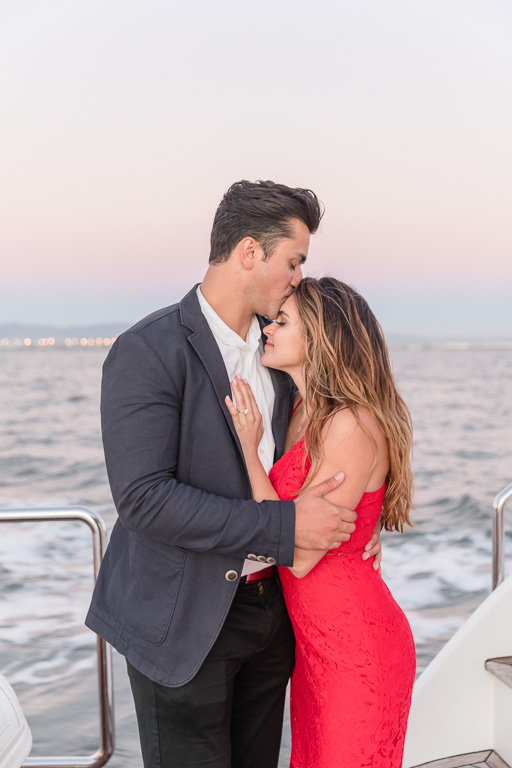 sunset engagement photo in the SF Bay