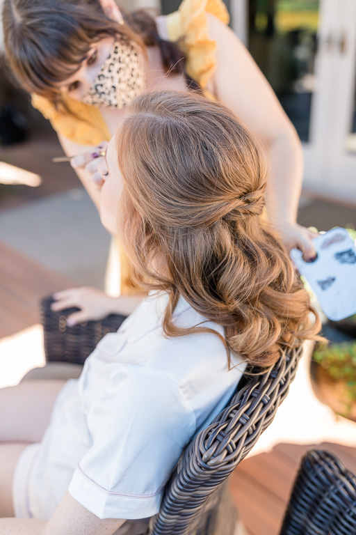 Sarah of Liner and Lace doing bridal hair and makeup