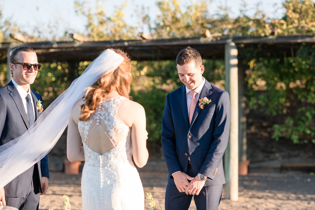 groom reaction to vows