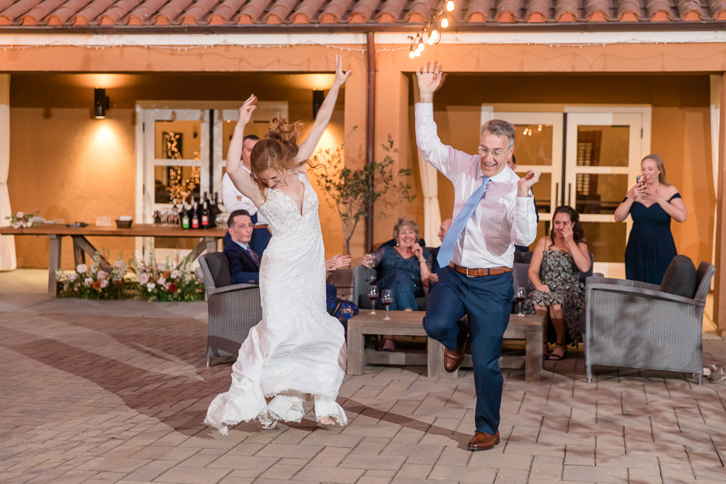 dance performance from bride and her dad