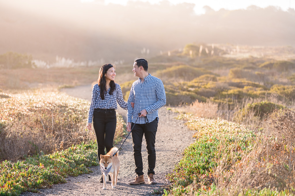 family photos on a Pacifica trail