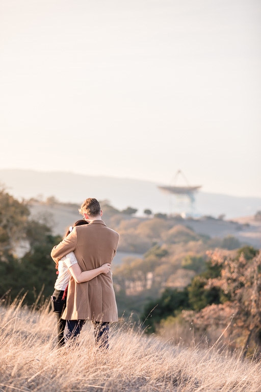 Stanford Dish Loop Trail engagement picture
