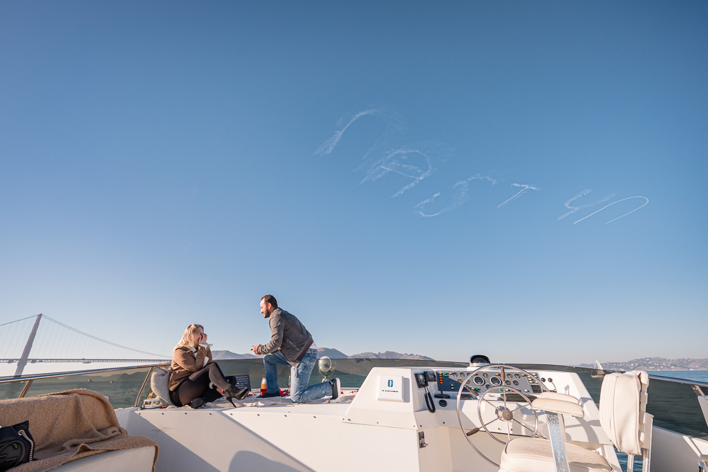yacht on the Bay skywriting proposal in San Francisco