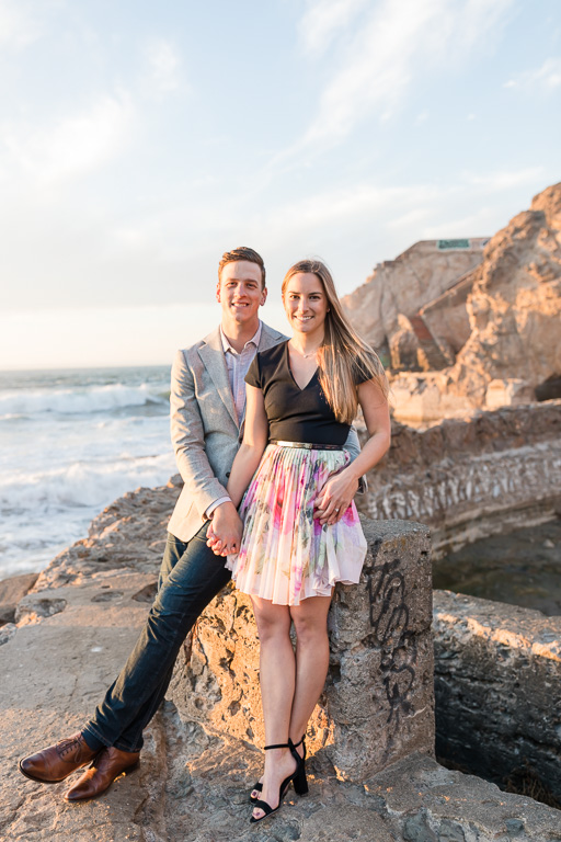 Land's End engagement photos