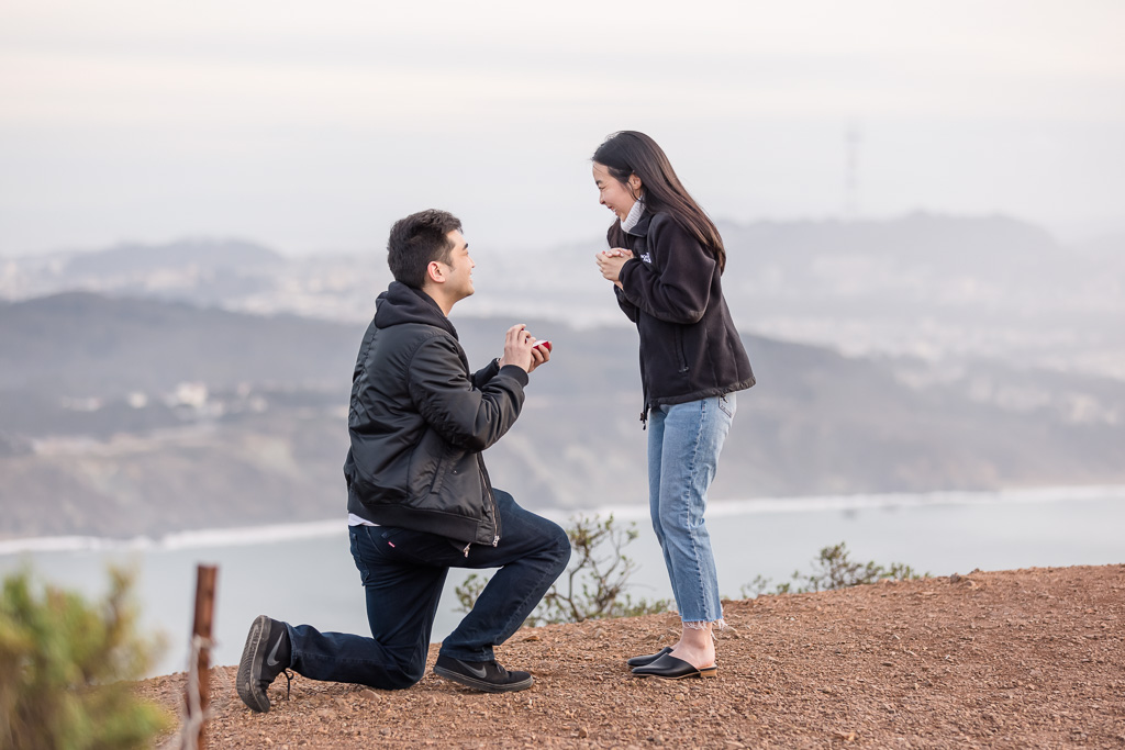 San Francisco surprise proposal on top of the world