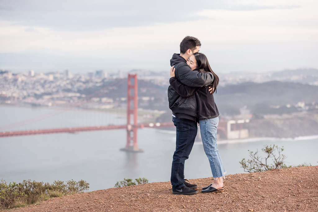 Marin Headlands surprise proposal overlooking the Bay
