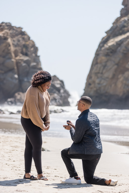 Pfeiffer Beach surprise marriage proposal