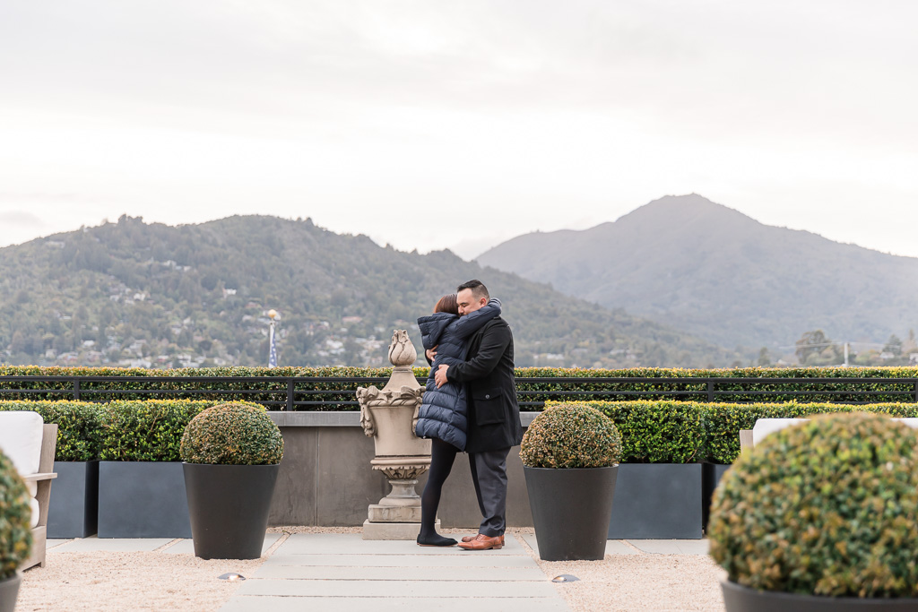 RH Rooftop Restaurant marriage proposal