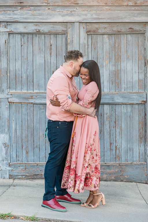 rustic engagement photo in San Francisco