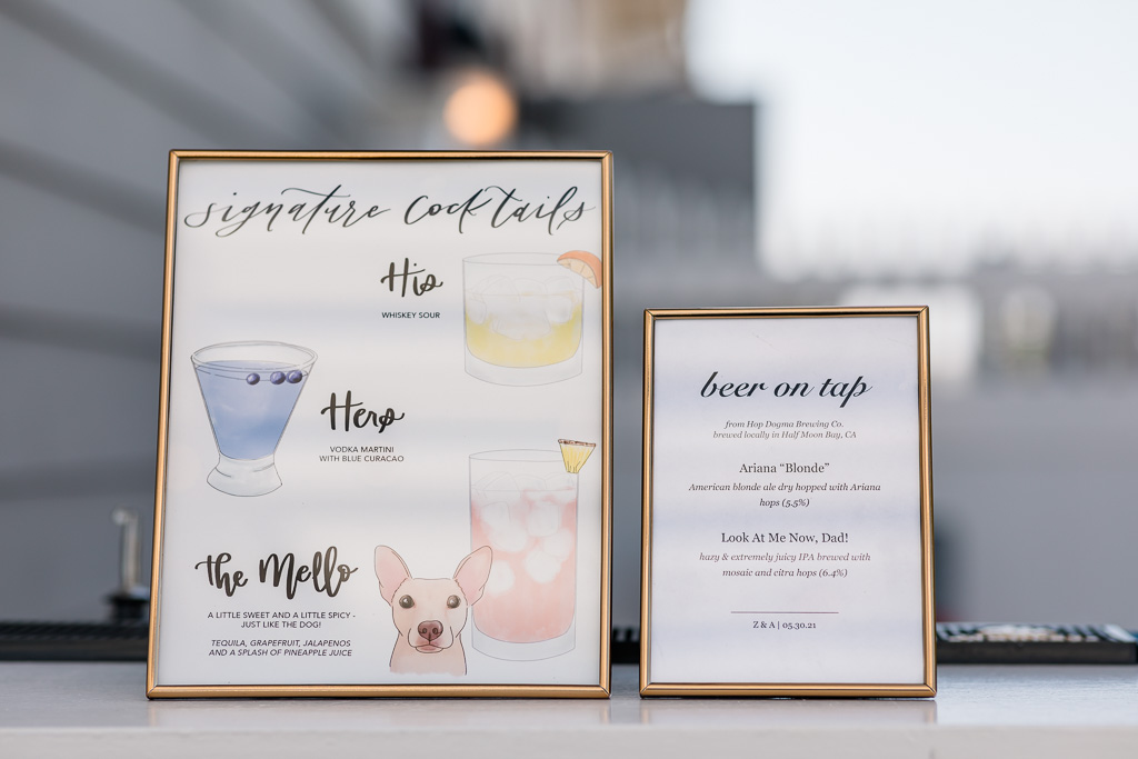 cute wedding signature cocktail signs