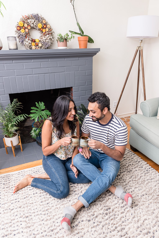 in-home lifestyle engagement shoot