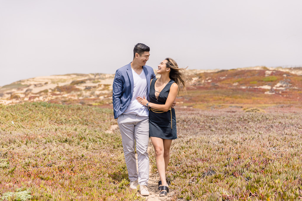 engagement shoot on the cliffs