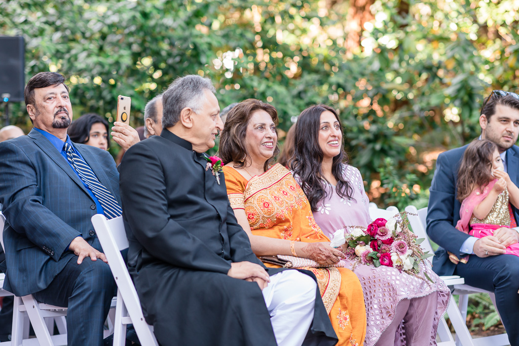 parents and family at wedding