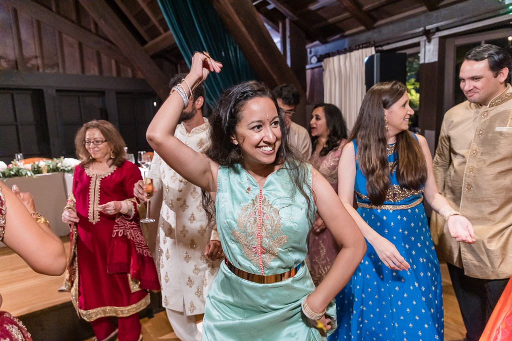 a guest having fun during reception
