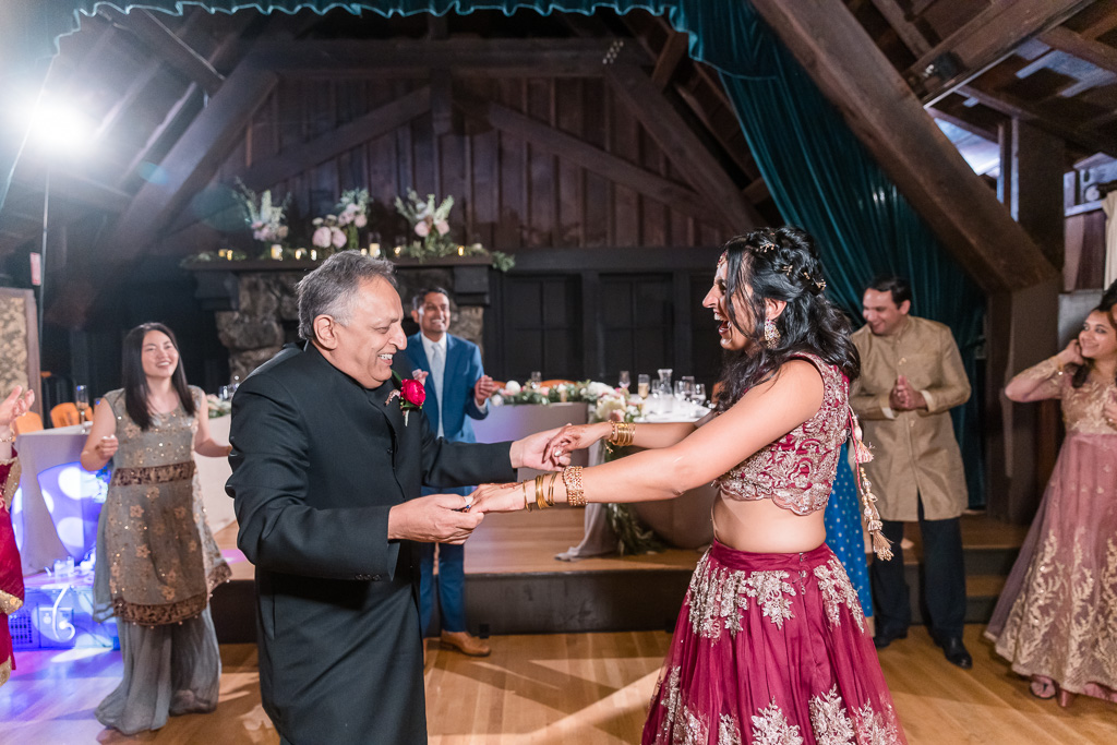 bride and her dad on the dance floor