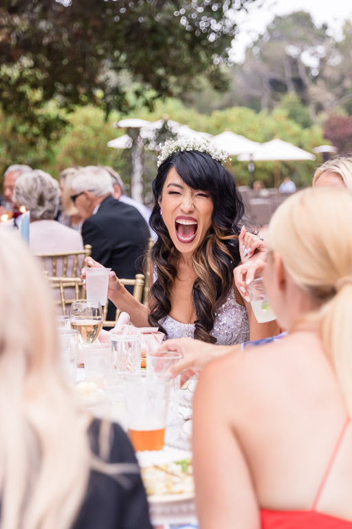 bride had such a great time mingling with the guests