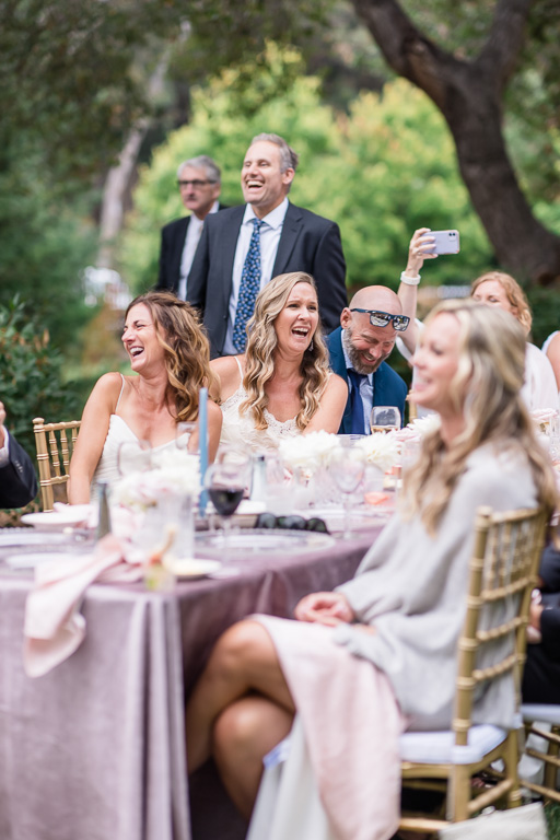 wedding guests burst out laughing at FOB speech