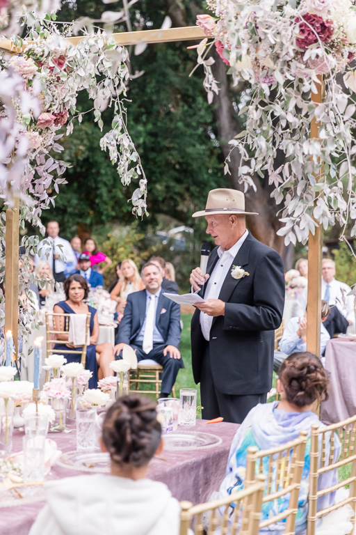 father of the bride giving a hilarious toast