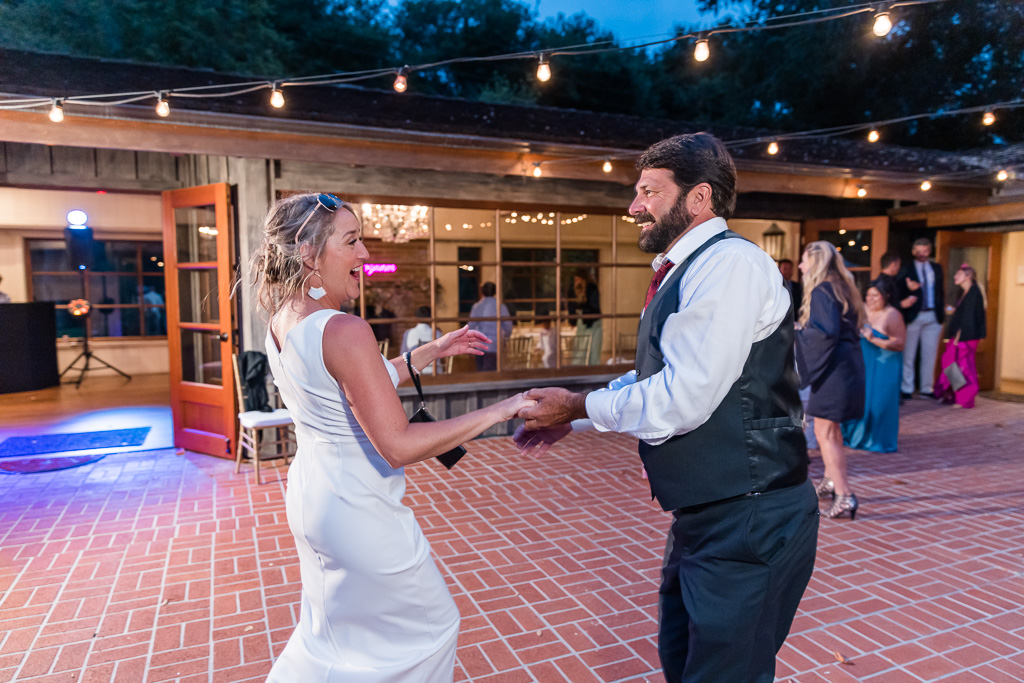 bridesmaid dancing with her partner
