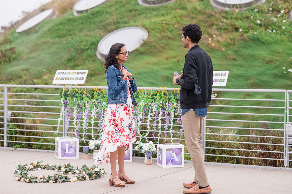 surprise engagement at the Academy of Sciences