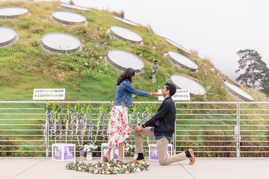 proposal on the rooftop of the California Academy of Sciences