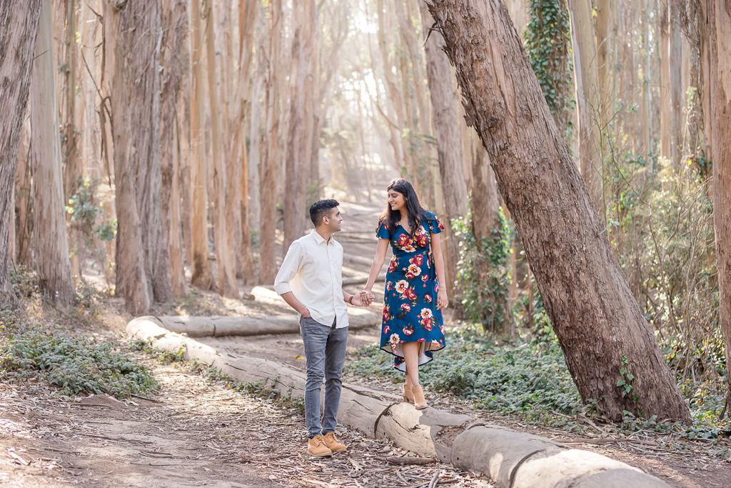 Andy Goldworthy's Wood Line engagement photos